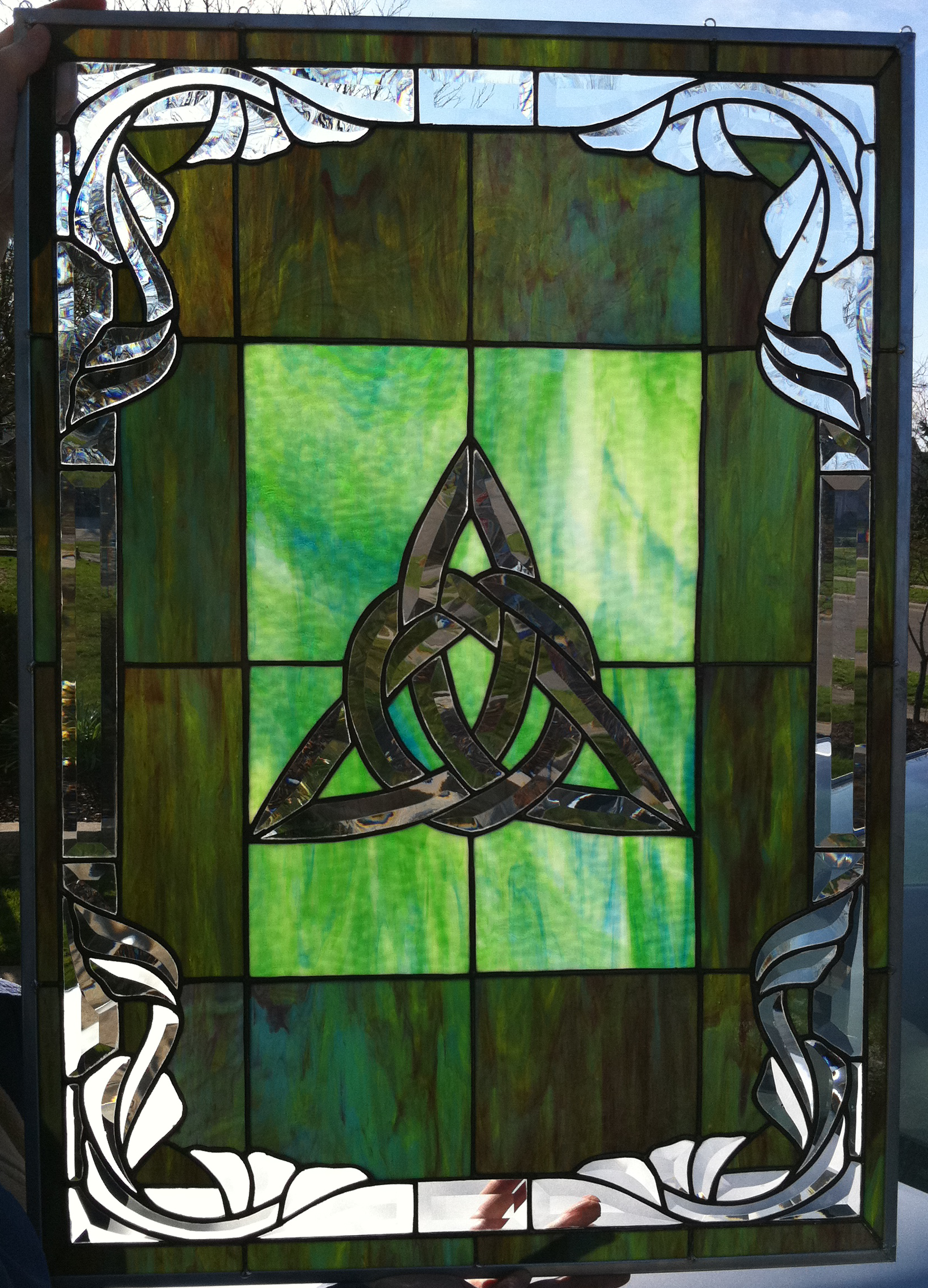Beautiful Celtic Stained Glass Window by: http://www ...