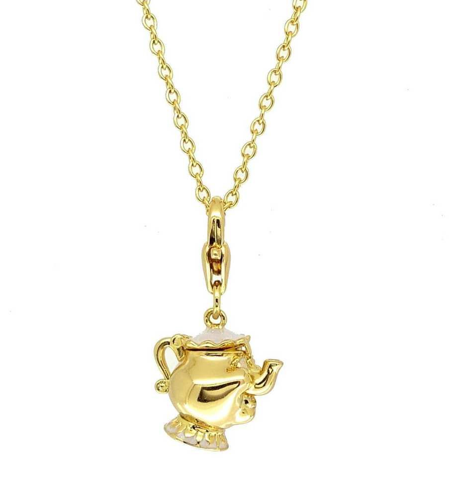 ec8f183d1 Disney Couture Gold-Plated Beauty & Beast Mrs Potts Teapot Charm & Necklace  #DisneyCouture