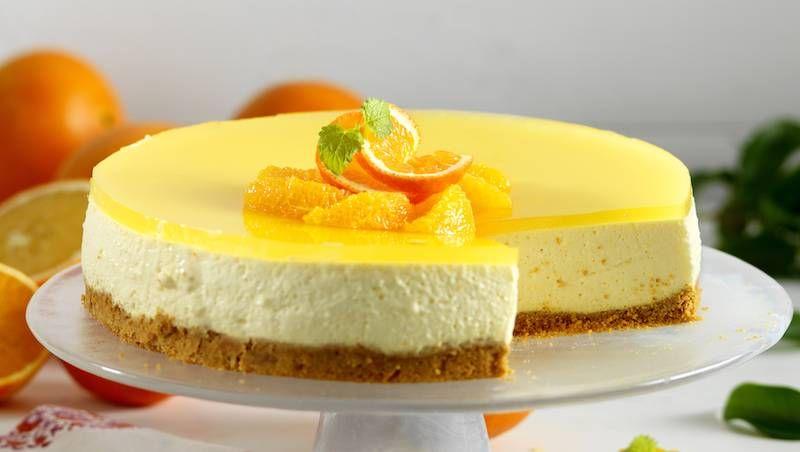 Krämig cheesecake med apelsin #enklaefterrätter