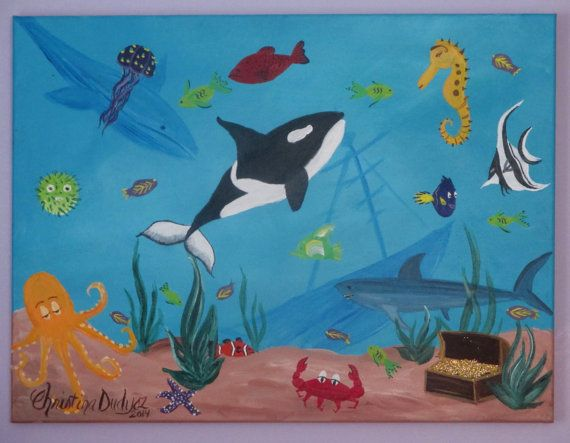Underwater Shark Blue Seal Portrait Animal Canvas Wall Art Picture Prints