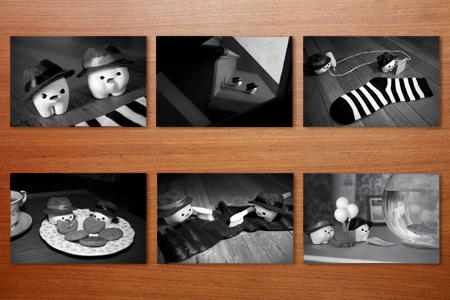 "My Milk Toof » Mini Print Set I- ""Toof Noir"""