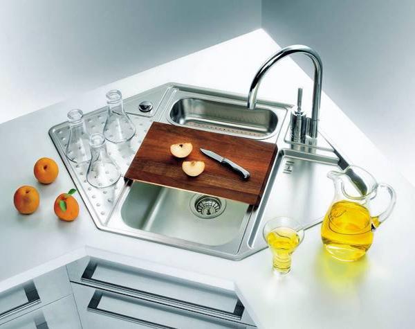 15 Cool Corner Kitchen Sink Designs Home Design Lover Corner Sink Kitchen Sink Design Kitchen Sink Design