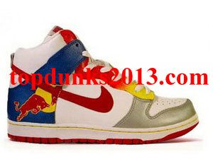 Nike Dunk High Top Custom Red Bull Shoes