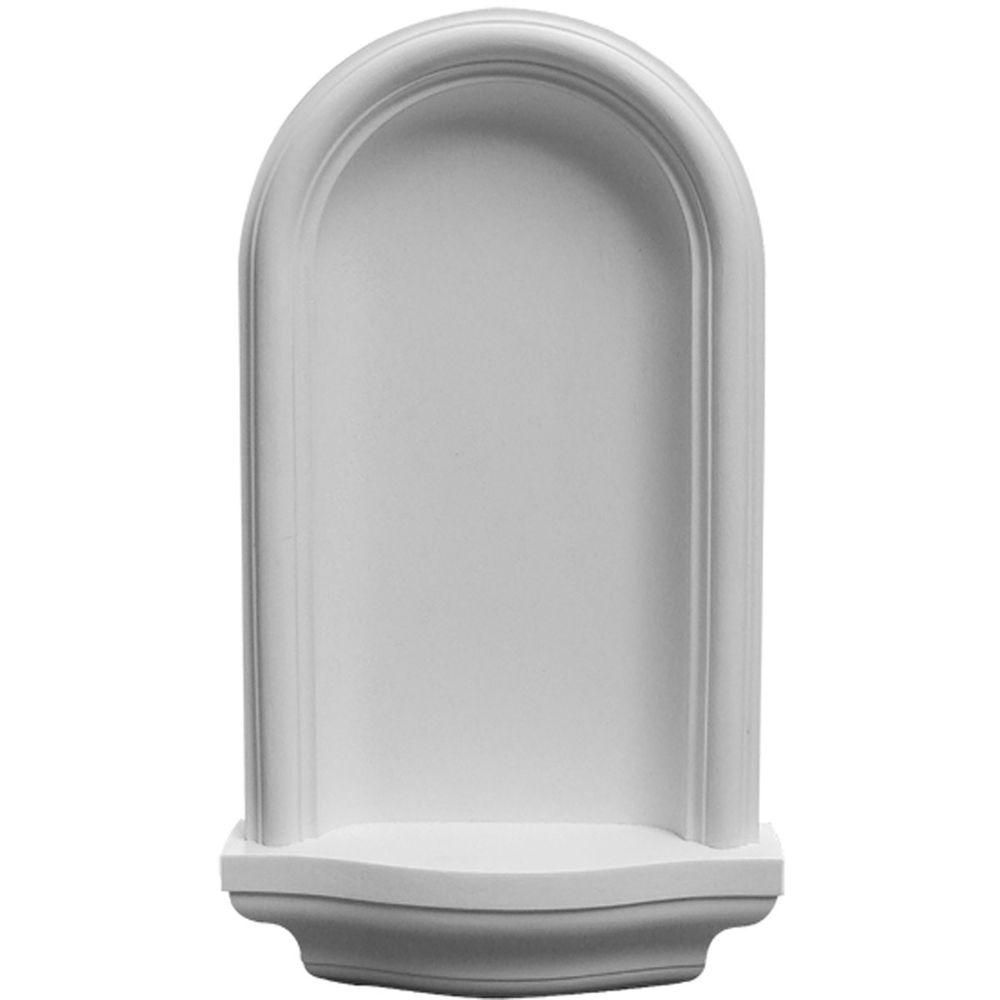 Ekena millwork 11 38 in x 3 14 in x 20 in primed polyurethane primed polyurethane surface mount maria wall the home depot dailygadgetfo Image collections