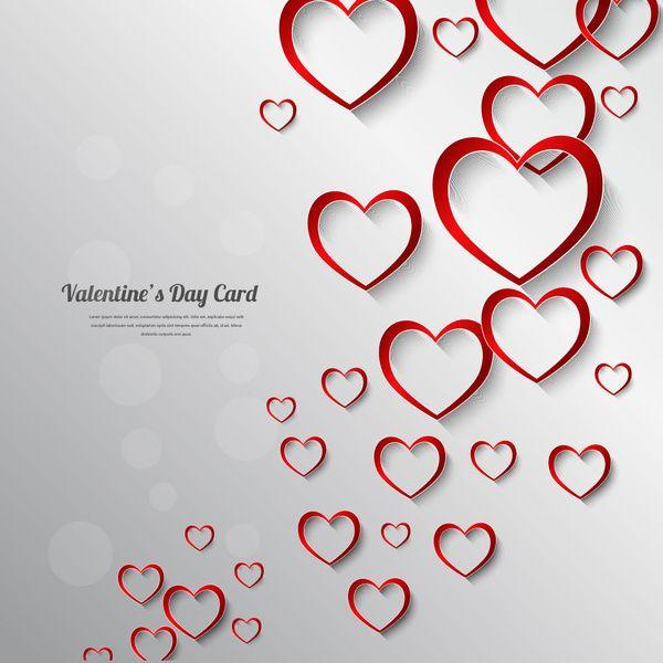 Valentine Day Card Decor Background Flores Sobres De Papel