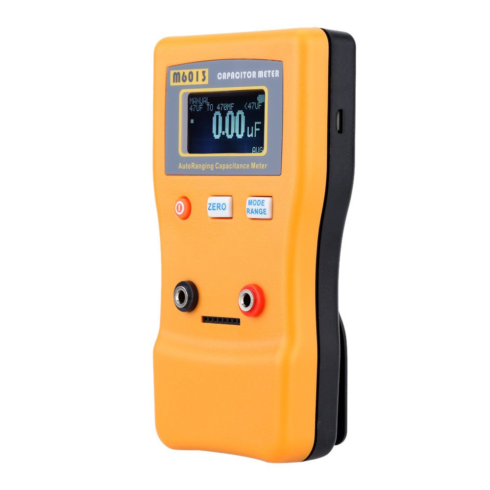 M6013 V2 Digital Auto Ranging Capacitance Meter Tester Capacitor A830l Lcd Multimeter Voltmeter Ammeter Ohm Ac Dc Circuit Volt 001pf To 470000uf