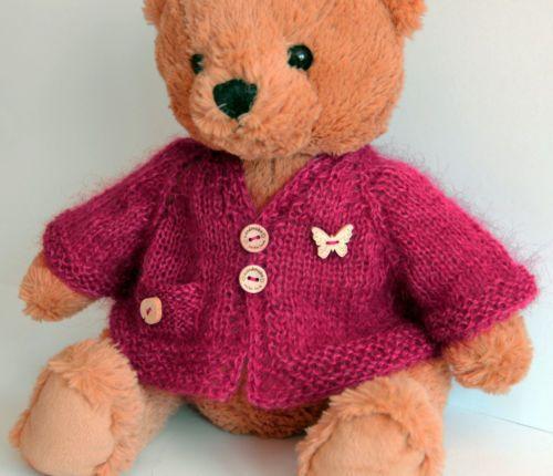Jacke-mit-Tasche-fuer-ca-35-40-45cm-Baeren-Teddy-Puppe-Puppenkleid-vintage-NEU