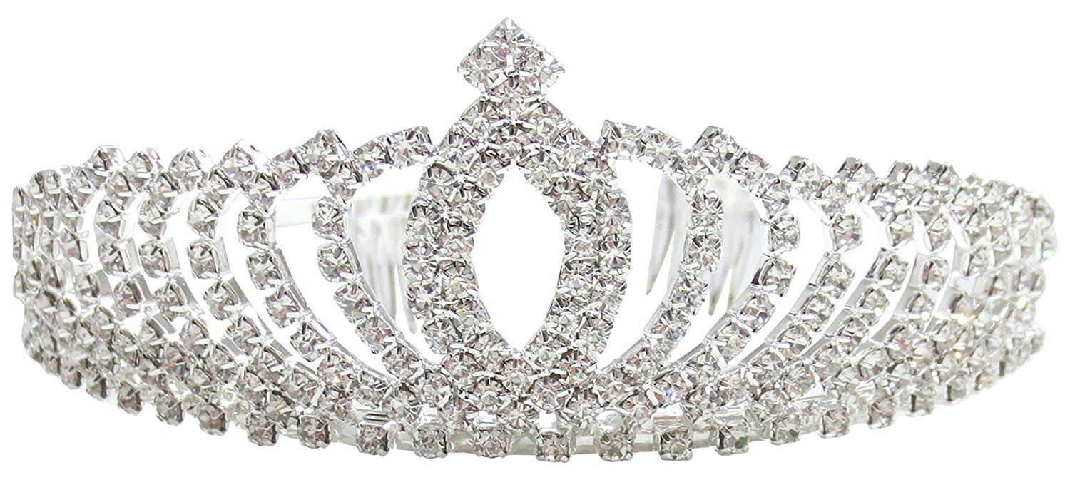 Silver-plated Crystal Flower Bridal Jewelry Tiara Hair Band Wedding Top C5X7