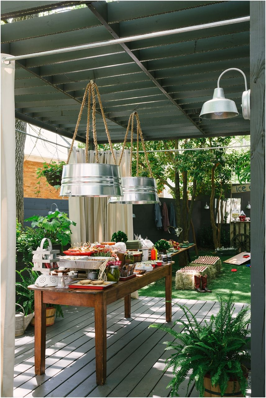 Rustic outdoor decor ideas jeri jo for the porch really love the hanging lights