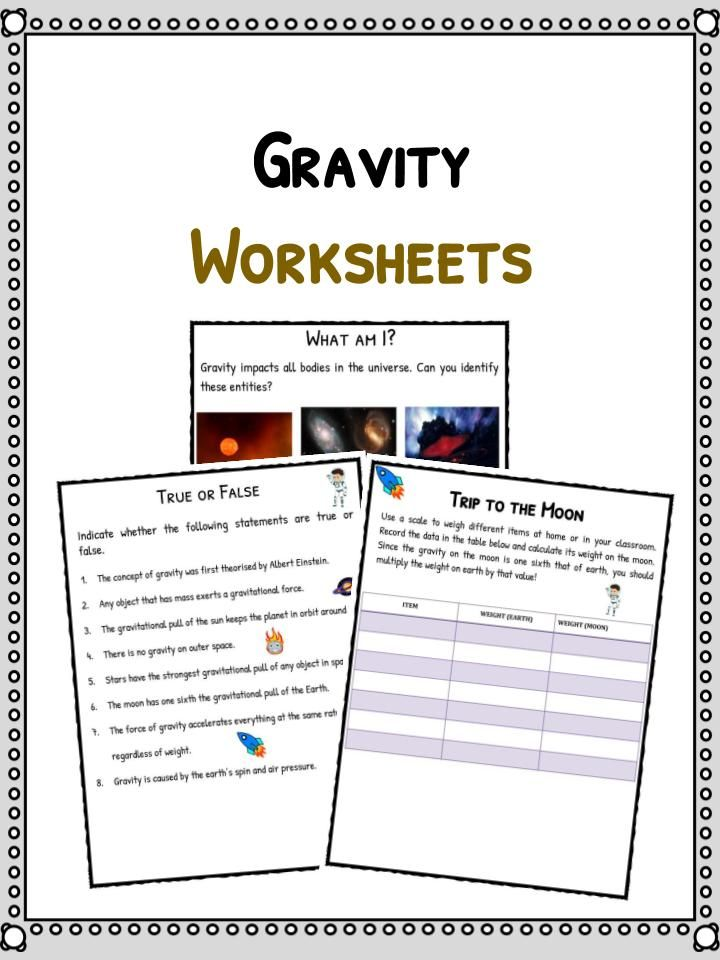 Gravity Facts Amp Worksheets For Kids Includes Lesson Plans Amp Study Material Resources Available Gravity Worksheet Worksheets For Kids Gravity Lessons Friction and gravity worksheet