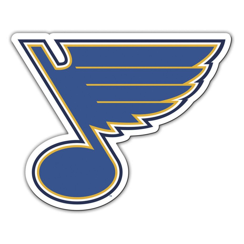 St louis blues vinyl mascot magnet st louis blues magnets and