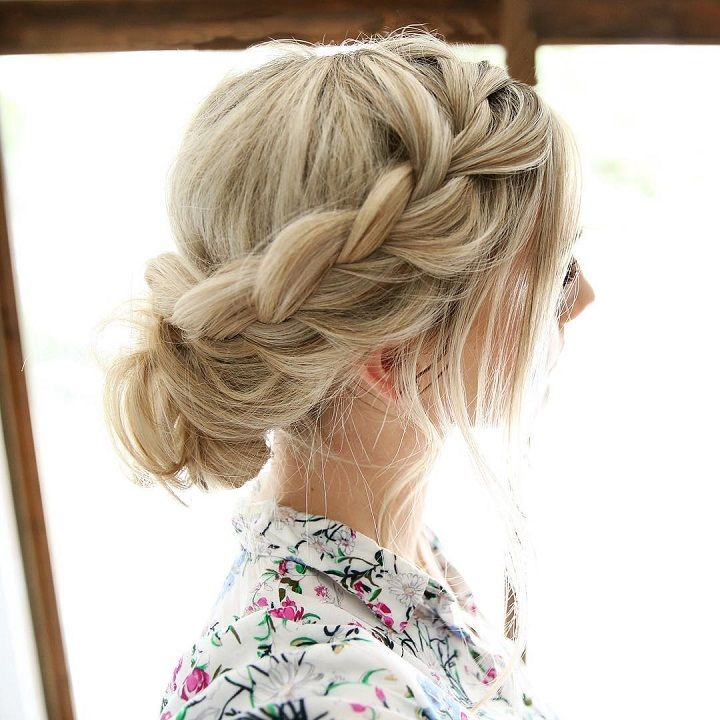 Wedding Hairstyle Upstyle: Easy Romantic Updo Wedding