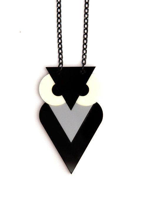 Black Owl Necklace by angledust on Etsy. $45.00, via Etsy.