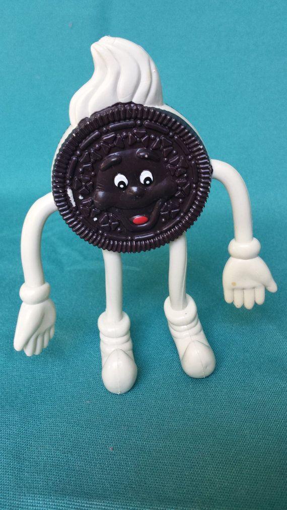 Vintage Oreo Cookie Man Figure Rubber Bendable Oreos