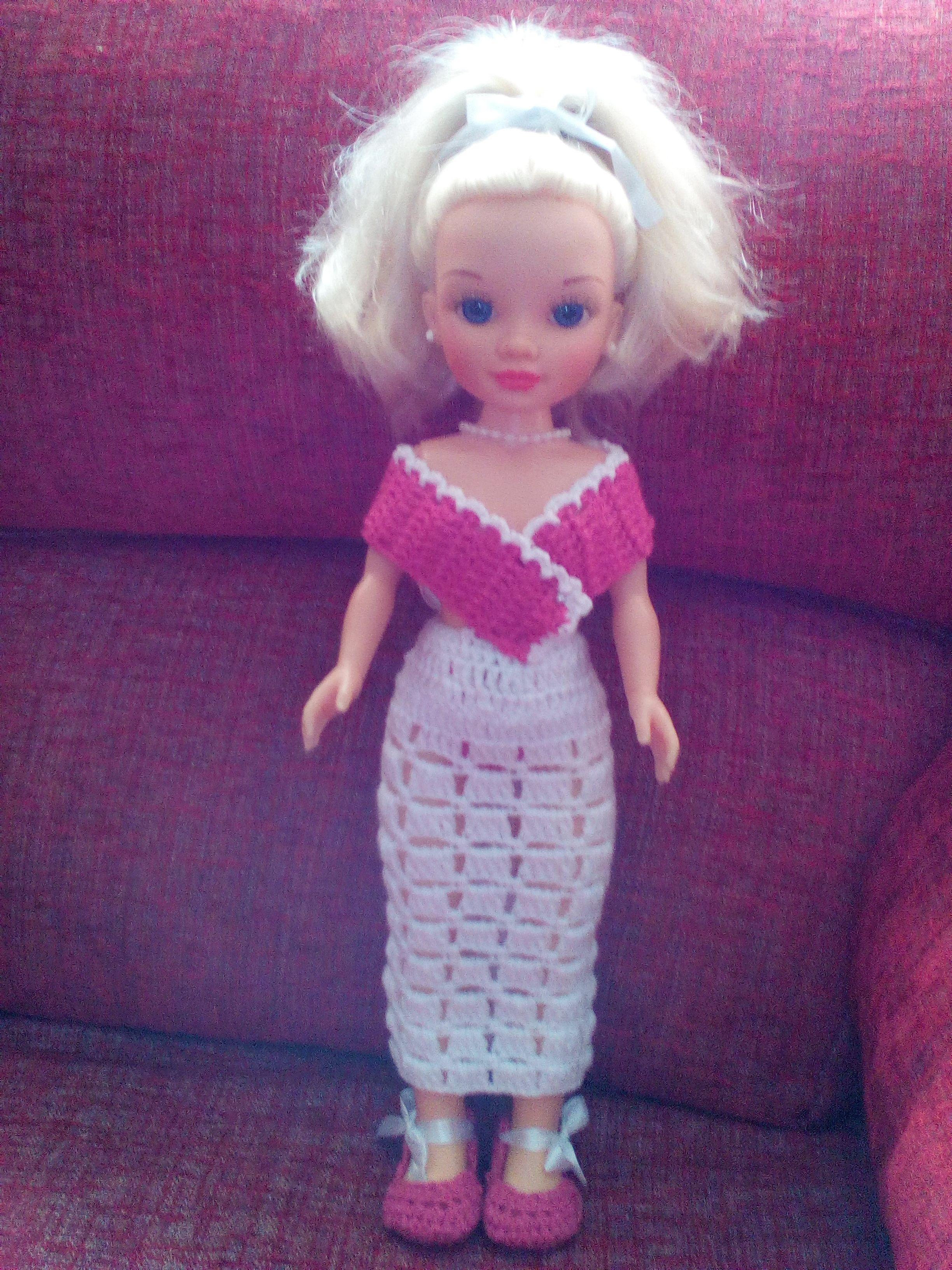 vestido y zapatos de crochet para nancy | VESTIDOS HECHOS POR ...