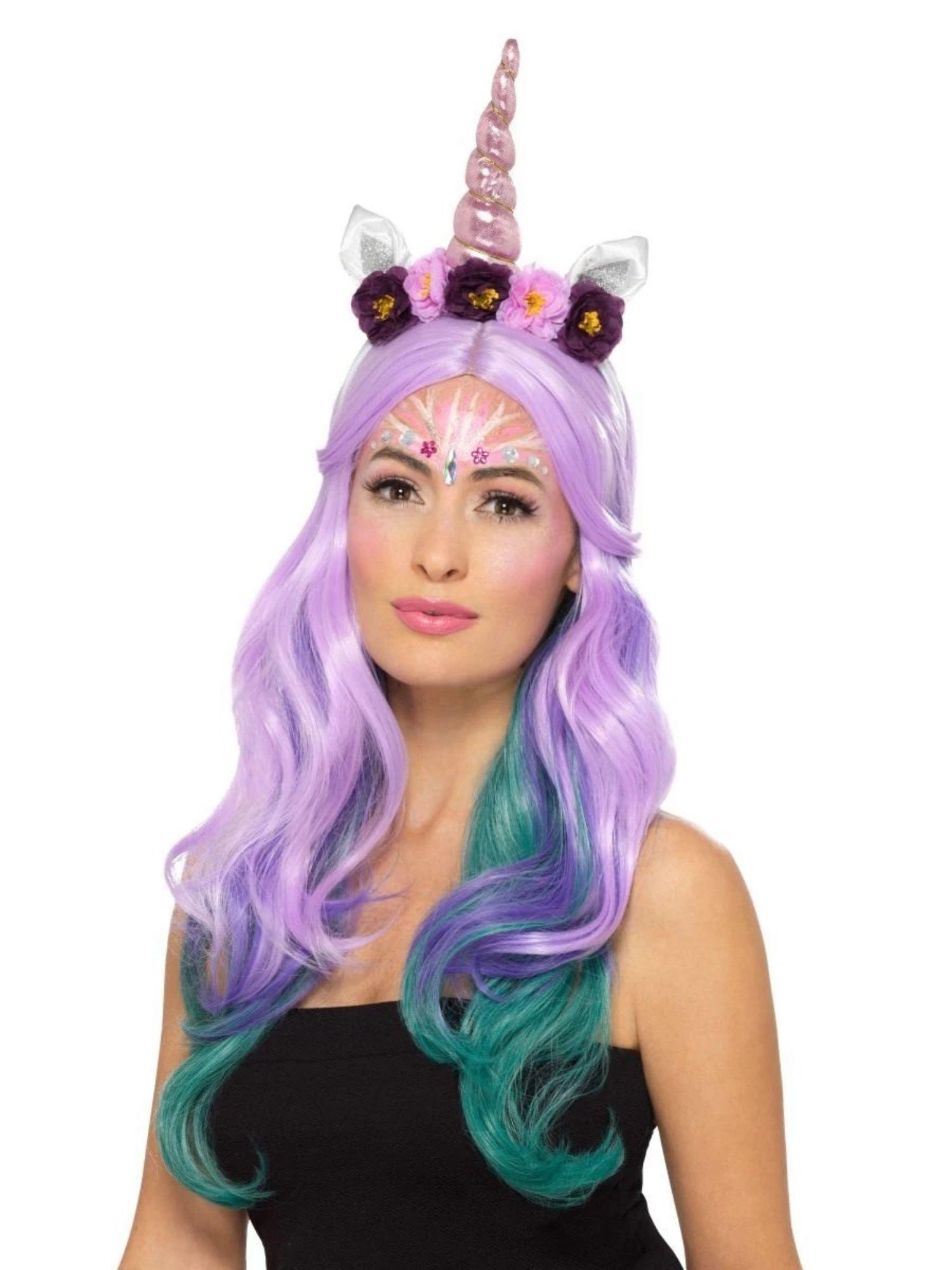 "20"" Pink and White Unicorn Women Adult Halloween Make Up"