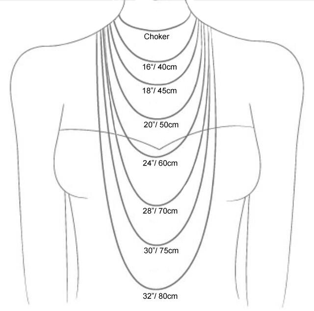 Image result for necklace length in cm