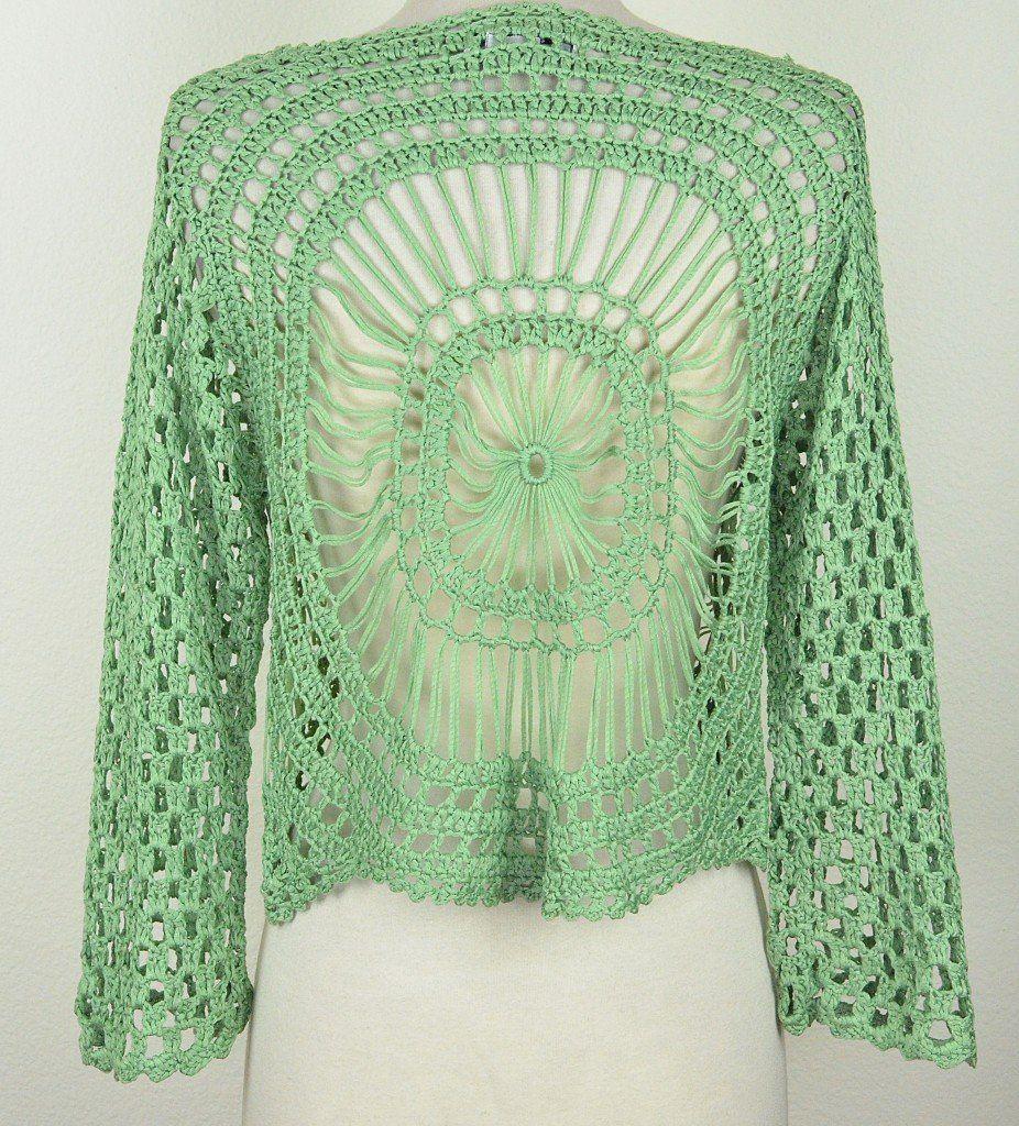 Aris a hairpin crochet bolero jacket back hairpin lacemaltese aris a hairpin crochet bolero jacket back bankloansurffo Image collections