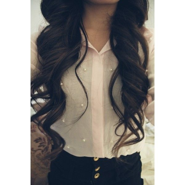 Curled hair with braid tumblr : Long Black Hair Tumblr ❤ liked on Polyvore featuring hair curly