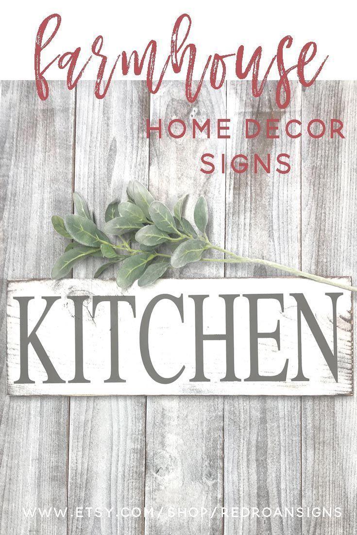 Kitchen signs decor farmhouse white, rustic home decor shabby chic ...