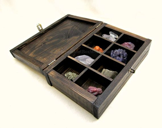 Made to Order Stained Pallet Wood Jewelry Box with Compartments