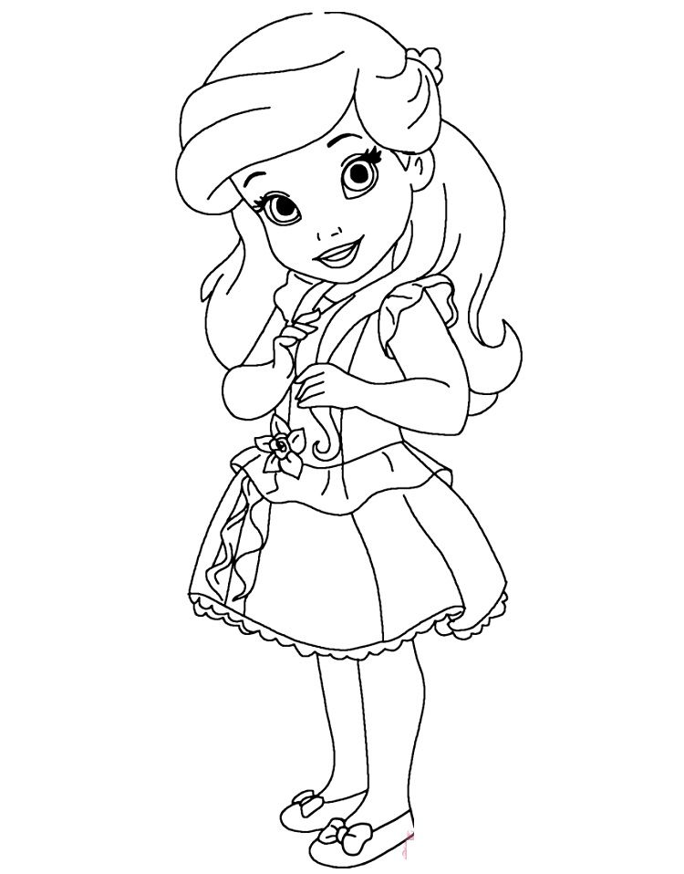 Little Princess Coloring Pages Princesas Para Colorear Princesa