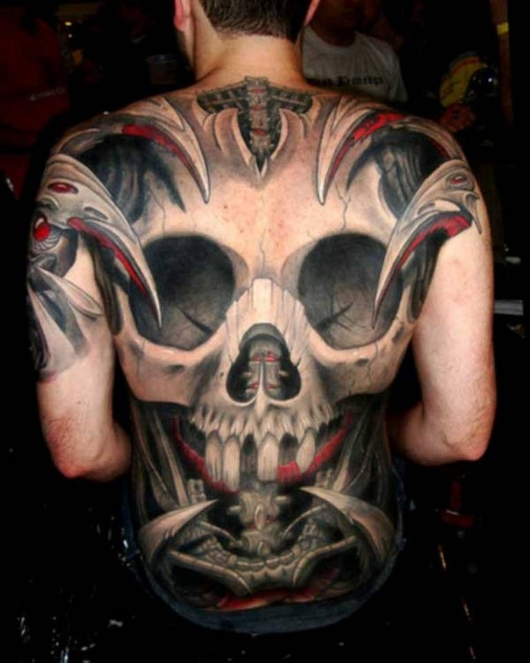 Skull With Jaw Dropped: 55 Most Jaw-Dropping 3D Tattoos You Have Never Seen