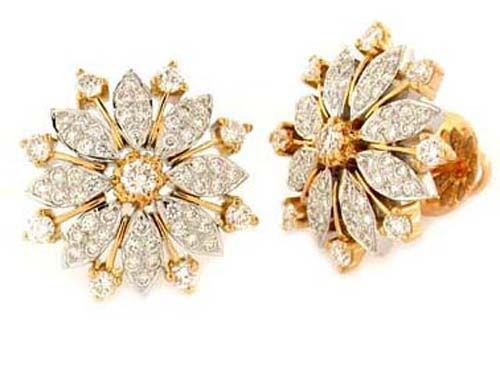 Gold Earrings For Women Real Certified 1 00 Ct Occasion