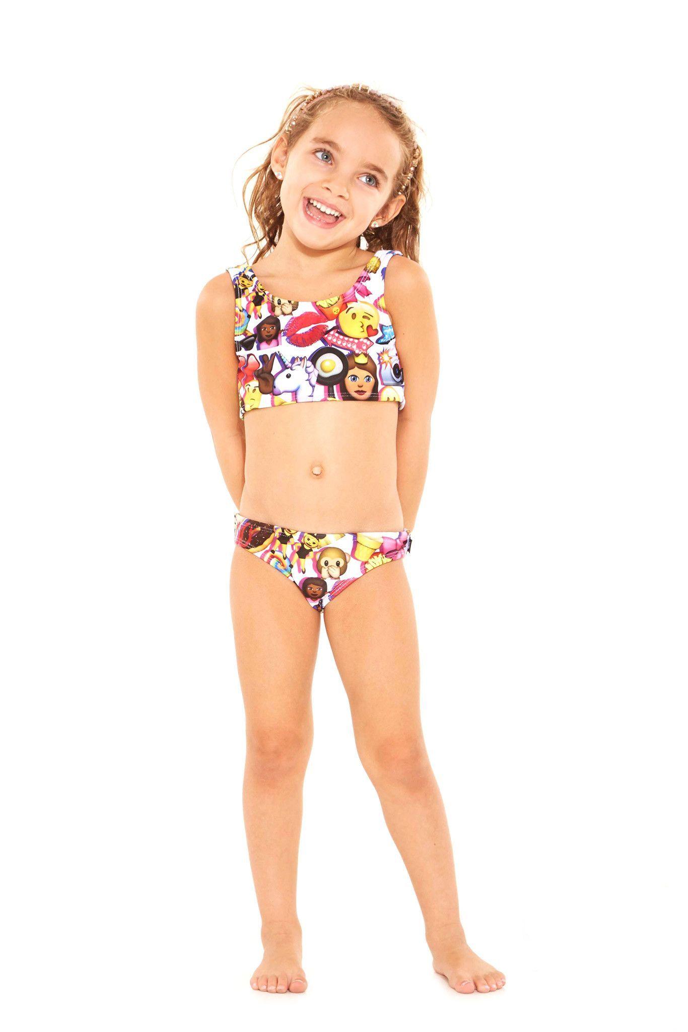 d2610aea700 Kids 100% Emoji Sports Bra Bikini | sports bras | Sports bra bikini ...
