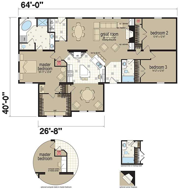 Floor Plans: The Covington - Manufactured and Modular Homes   House ...
