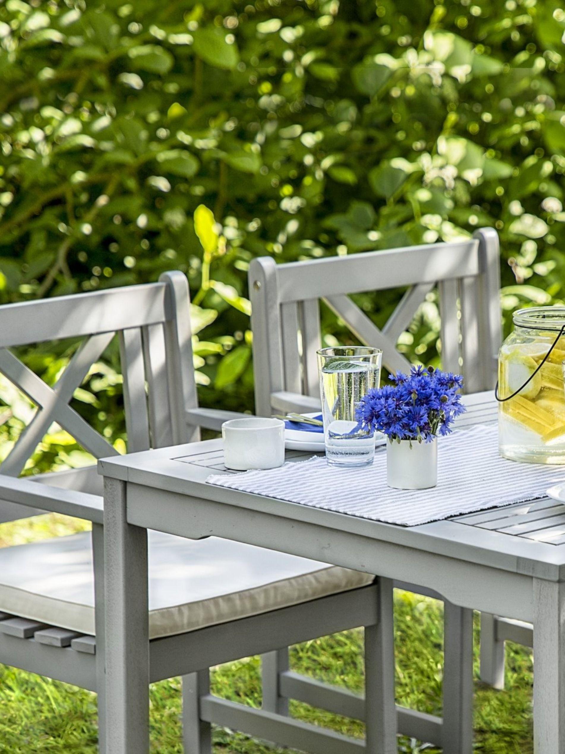 Trendy Gartentisch Set Aus Eukalyptusholz Fur 4 Personen Mit