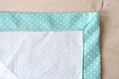 Briefecken nähen - Anleitung und Tipps zum Nähen von Ecken #tischsetnähen