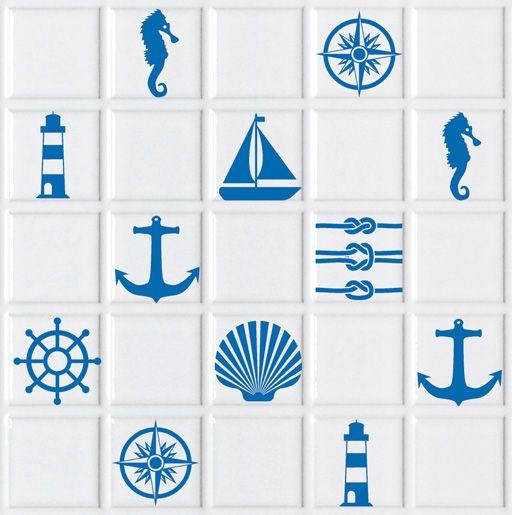 Vinilos de motivos marineros, perfectos para poner en los azulejos ...