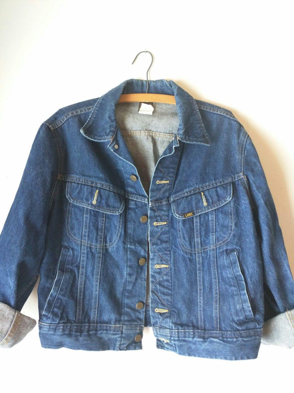 2b77a75a Vintage 70's 1980's Lee Jean Jacket / LEE Jeans / Unisex Coat / Vintage  Denim / Rough rider / Patd 153438 USA by glamtownvintage on Etsy