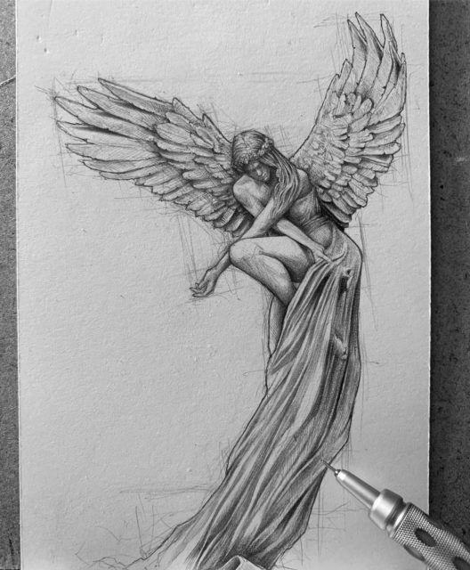 Pencil Sketch artist Efraín Malo in 2020 | Sketches, Angel ...