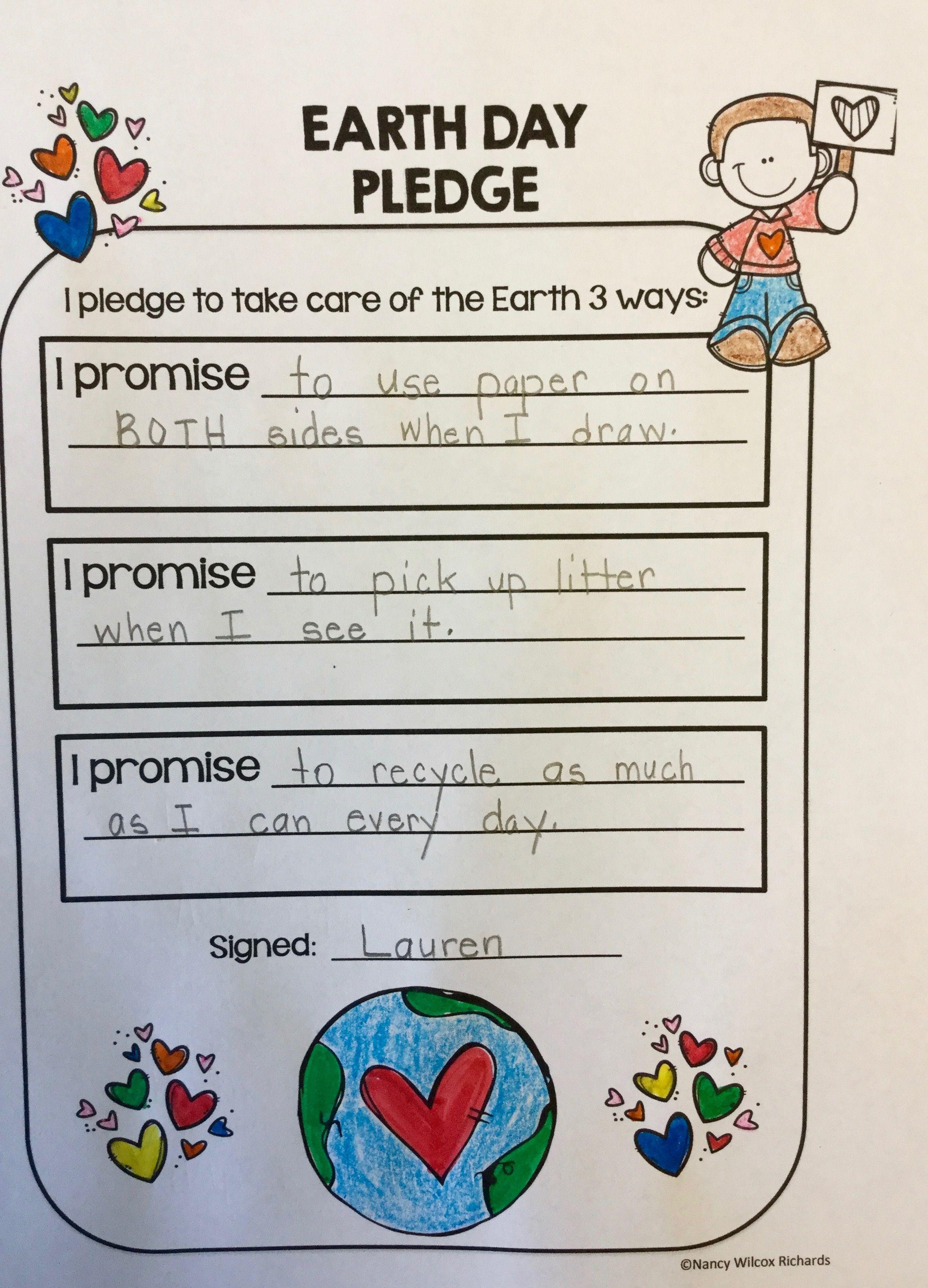 Earth Day Activities Grades K2 Low Teacher Prep Printables