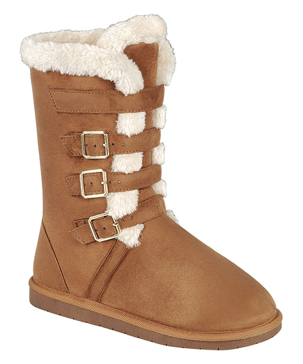 Look at this Forever Tan Buckle Ann Boot on #zulily today!