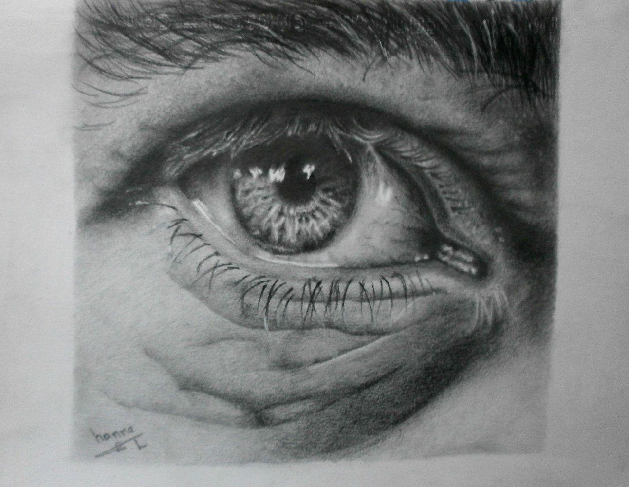 رسم عين بالرصاص هنا Drawings Art Eyes