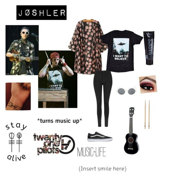 """Jøshler- Twenty Øne Piløts Halloween Costume"" by bandomsandfandoms ❤ liked on Polyvore featuring art"