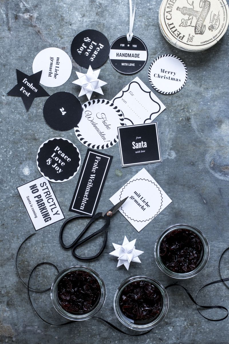 zwiebelconfit plus geschenkanh nger zum ausdrucken. Black Bedroom Furniture Sets. Home Design Ideas