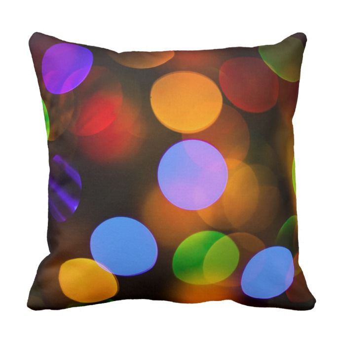 Multicolored Christmas Lights Outdoor Pillow In 2018 Customizable
