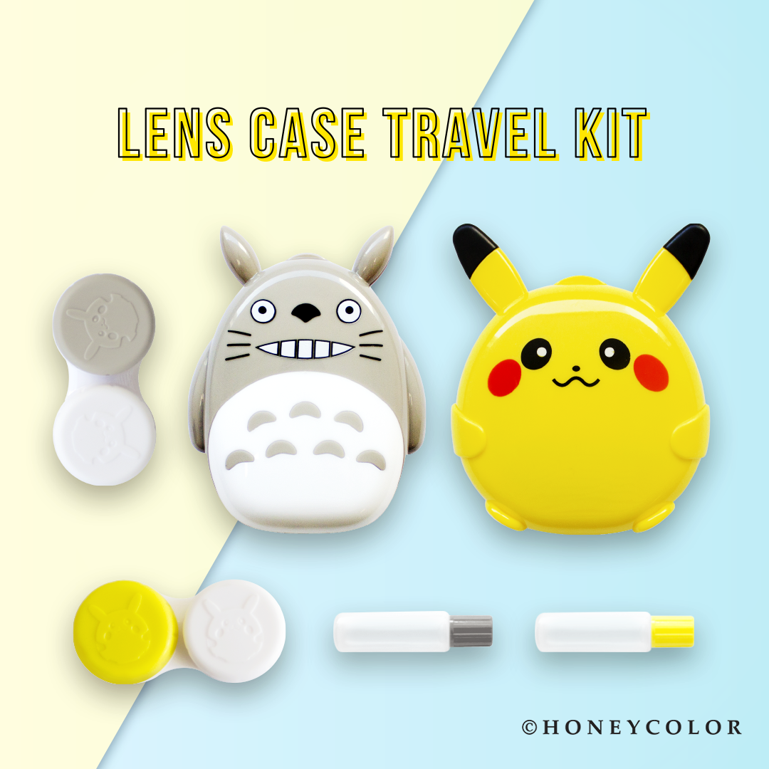 Free Gift How Cute Get These Adorable Pikachu Or Totoro Lens Case Travel Kit When You Purchase Us 100 Br Travel Kits Traveling By Yourself Contact Lenses