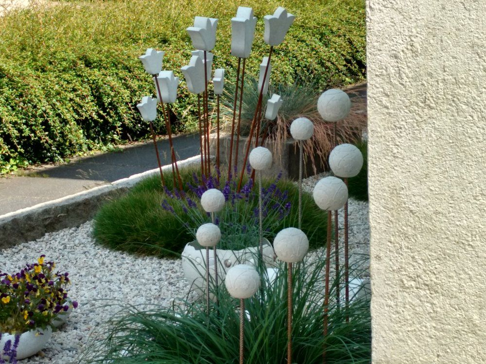 Sommer Beton Pinterest Sommer, Gartendeko und Gärten - beton basteln garten