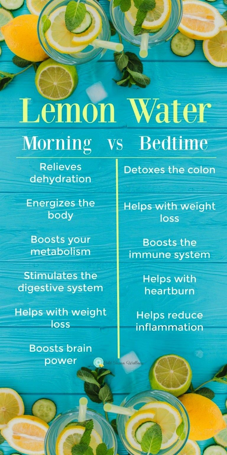 are tons of benefits to drinking lemon water! But did you know the time of day can affect the healt