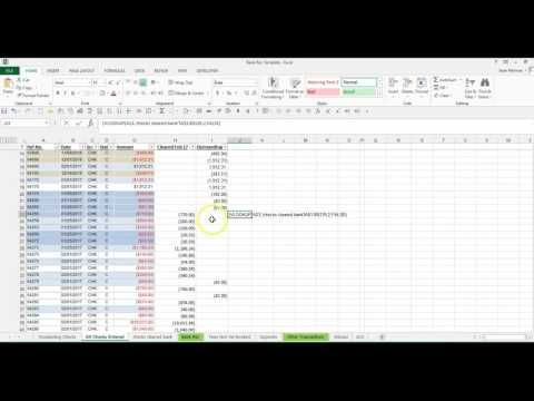 Quickly reconcile large number of checks using VLookup in Excel bank