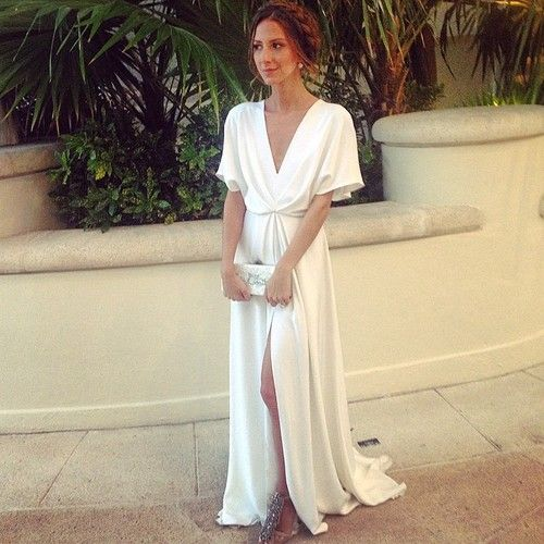 Christian Wedding White Gown: Something Navy (Arielle Nachmani) In Her Wedding Rehearsal