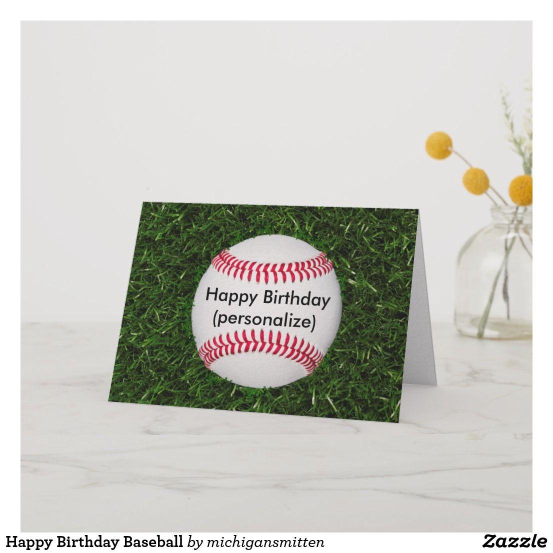 Happy Birthday Baseball Card Zazzlecom Birthday Cards