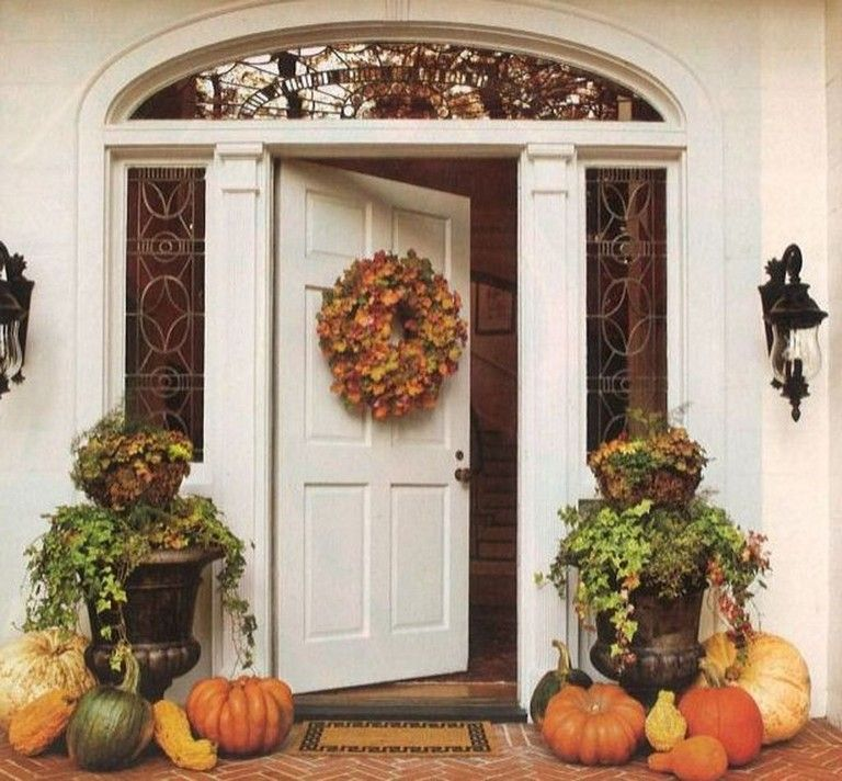 40 Stunning Fall Porch Decor Ideas To Inspire Page 28 Of 38 Fall Outdoor Decor Fall Decorations Porch Outdoor Fall Decor Ideas