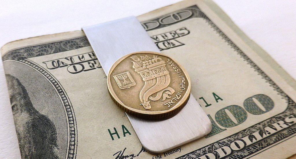 Money clip, Israel, Coin money clip, Jewish, Bar Mitzvah gift, Hebrew, Men's wallet, Men's accessory, Coin, Men's gifts, Upcycled coin, Clip by CoinStories ...