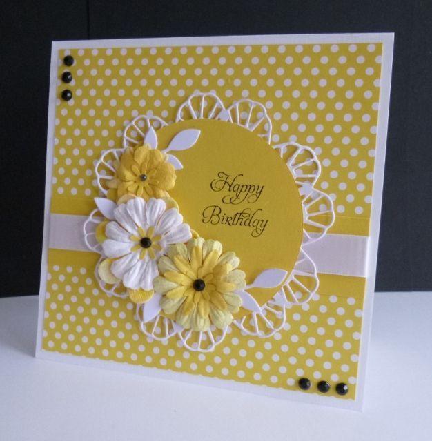 Yellow handmade birthday card birthday pinterest handmade female birthday cards m4hsunfo